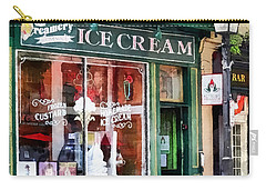 Alexandria Va - Ice Cream Parlor Carry-all Pouch by Susan Savad