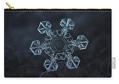 Carry-all Pouch featuring the photograph Snowflake Photo - Ice Crown by Alexey Kljatov