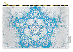 Carry-all Pouch featuring the digital art Ice Crystals by GJ Blackman