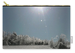 Carry-all Pouch featuring the photograph Ice Kissed by Ellen Levinson