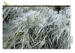 Ice On Bamboo Leaves Carry-all Pouch