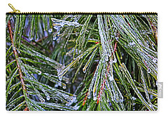 Ice On Pine Needles  Carry-all Pouch by Daniel Reed