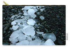 Carry-all Pouch featuring the photograph Ice Pebbles by Amanda Stadther