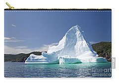 Carry-all Pouch featuring the photograph Iceberg Newfoundland Canada by Liz Leyden
