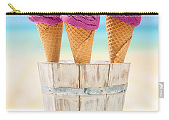 Icecreams With Blueberries Carry-all Pouch by Amanda Elwell