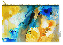 Carry-all Pouch featuring the painting Iced Lemon Drop - Abstract Art By Sharon Cummings by Sharon Cummings