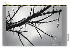 Carry-all Pouch featuring the photograph Iced Tree by Ann Horn