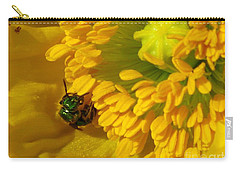 Iceland Poppy Pollination Carry-all Pouch by J McCombie