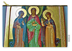 Icon Inside Chesme Church Built By Catherine The Great In Saint  Petersburg-russia Carry-all Pouch