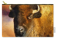 Icon Of The Plains Carry-all Pouch by RC deWinter