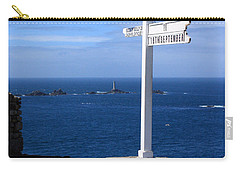 Carry-all Pouch featuring the photograph Iconic Lands End England by Terri Waters