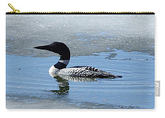 Icy Loon Carry-all Pouch by Steven Clipperton