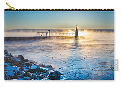 Icy Morning Mist Carry-all Pouch by Bill Pevlor