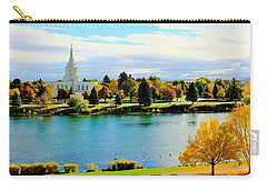 Carry-all Pouch featuring the photograph Idaho Falls Temple by Benjamin Yeager