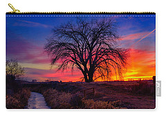 Carry-all Pouch featuring the photograph Idaho Winter Sunset by Greg Norrell