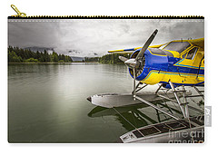 Idle Float Plane At Juneau Airport Carry-all Pouch by Darcy Michaelchuk