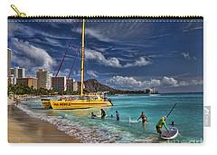 Idyllic Waikiki Beach Carry-all Pouch