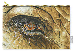 Carry-all Pouch featuring the painting If You Could See What I've Seen... by Barbara Jewell