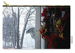 Carry-all Pouch featuring the photograph I'll Be Home For Christmas by Shana Rowe Jackson