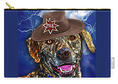 Carry-all Pouch featuring the digital art I'm A Canine Community Reporter by Kathy Tarochione