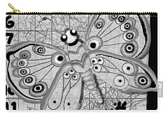 Carry-all Pouch featuring the digital art Imaginary Lines by Carol Jacobs