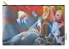 Carry-all Pouch featuring the painting Imagination 1 by Vesna Martinjak