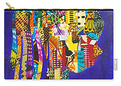 Carry-all Pouch featuring the tapestry - textile Imani by Apanaki Temitayo M