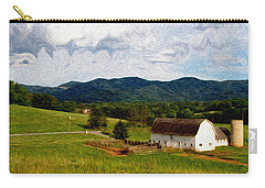 Carry-all Pouch featuring the painting Impressionist Farming by John Haldane