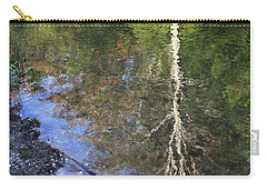 Carry-all Pouch featuring the photograph Impressionist Reflections by Patrice Zinck