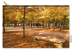Impressions Of Paris - Tuileries Garden - Come Sit A Spell Carry-all Pouch by Georgia Mizuleva