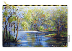 Impressions Of Spring Carry-all Pouch by Vesna Martinjak