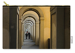In A Distance - Vasari Corridor In Florence Italy  Carry-all Pouch
