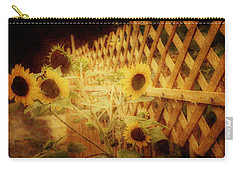 Sunflowers And Lattice Carry-all Pouch