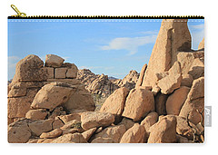 Carry-all Pouch featuring the photograph In Between The Rocks by Amy Gallagher