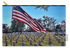 Carry-all Pouch featuring the photograph In Honor Of Our Troops by Victor Montgomery