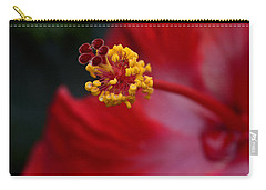 Carry-all Pouch featuring the photograph In Red by Larry Bishop