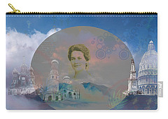 Carry-all Pouch featuring the digital art In The Air by Cathy Anderson