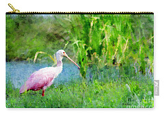 Carry-all Pouch featuring the photograph In The Bayou #1 by Betty LaRue