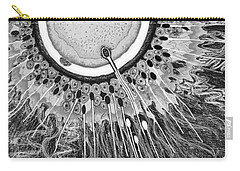 Carry-all Pouch featuring the digital art In The Beginning by Carol Jacobs