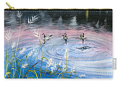 Carry-all Pouch featuring the painting In The Dusk by Melly Terpening