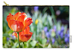 Carry-all Pouch featuring the photograph In The Garden by Kerri Farley