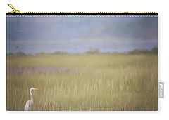 Carry-all Pouch featuring the photograph In The Marsh  by Kerri Farley