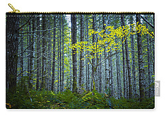 Carry-all Pouch featuring the photograph In The Woods by Belinda Greb