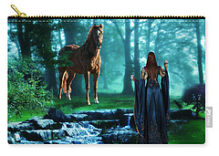In The Woods Carry-all Pouch by Davandra Cribbie