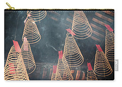 Carry-all Pouch featuring the photograph Incense Coils by Lucinda Walter
