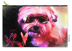 Carry-all Pouch featuring the digital art Incognito Innocence by Kathy Tarochione