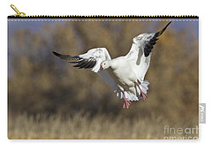Carry-all Pouch featuring the photograph Incoming Snow Goose by Bryan Keil