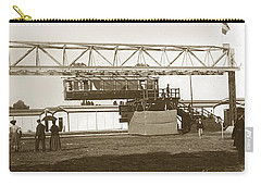 Carry-all Pouch featuring the photograph Incredible Hanging Railway  1900 by California Views Mr Pat Hathaway Archives