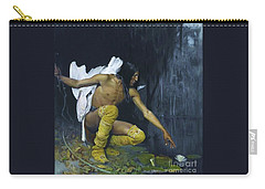 Indian And The Lily Carry-all Pouch by Pg Reproductions