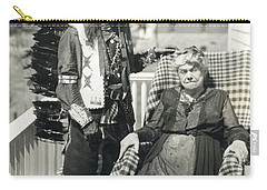 Carry-all Pouch featuring the photograph Indian Chief And Woman by Charles Beeler